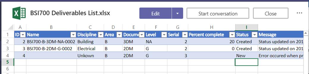 Flow idea #2: Maintaining Deliverable List using Flow - PW