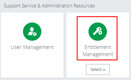 Entitlement Management tile