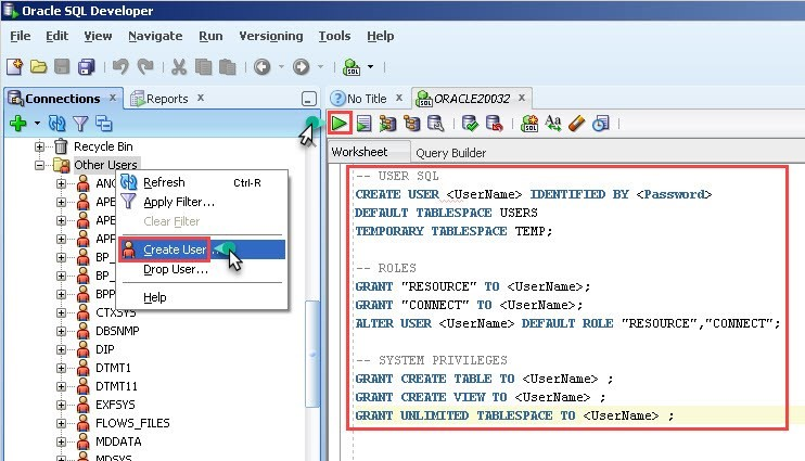 How to fix data manager crashing while trying to start - Create table in oracle sql developer ...