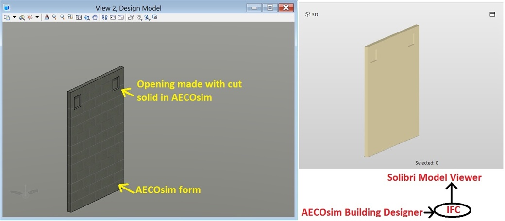 AECOsim Form IFC Exchange