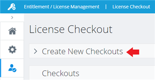 Screenshot showing Create New Checkouts