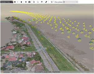 Workflow for combining structured aerial dataset with orbit dataset