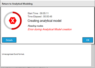 Error During Analytical Model Creation - RAM | STAAD Forum - RAM