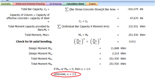 About the coefficient α in load contour method calculating biaxial
