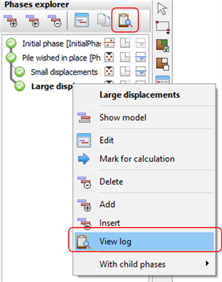 select Converge Log from the Phases Explorer and Phases Window
