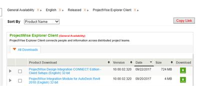 ProjectWise Integration Module for Revit Advance Integration 2018