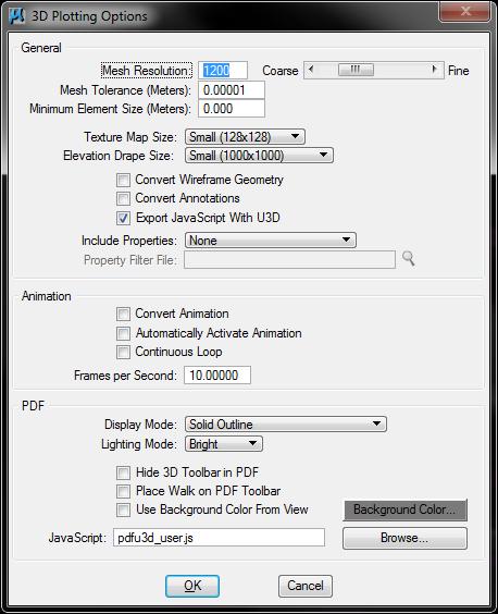 V8i SS3 081109357 Controlling 3D PDF Brightness
