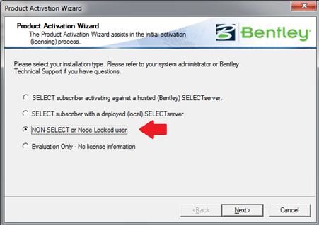 Activating as a NON-SELECT or Node Locked user [TN