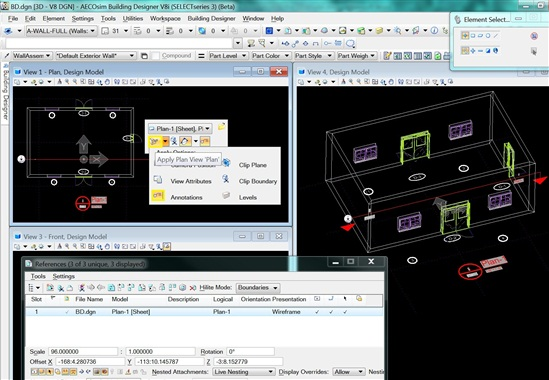 Applying Plan View Annotation To The 3d Model Aecosim