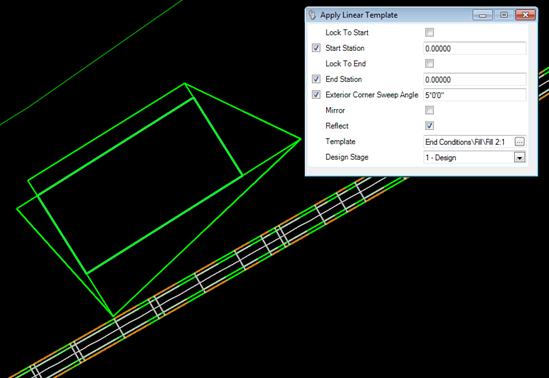 How To Apply Linear Template In Open Roads Geopak