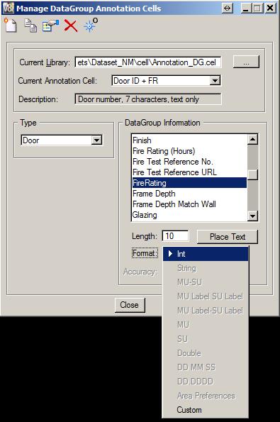 DataGroup Annotation Cells - Custom DataGroup Information