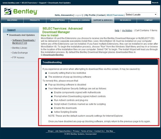 Prerequisites For Bentley Desktop Applications 08 11 09 03