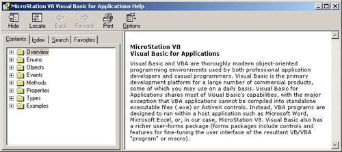 MicroStation VBA Resources Revisited [CS] - MicroStation