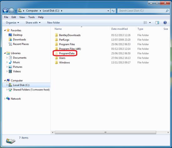Windows Explorer Programdata Folder Microstation Wiki