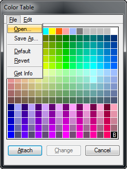 How To Change Color Table In Mx V8i Select Series 3