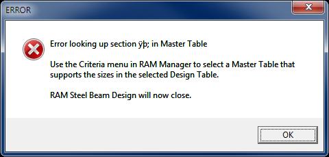 RAM Table Editing [FAQ] - RAM | STAAD Wiki - RAM | STAAD - Bentley