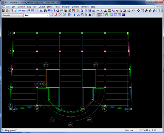 RAM SS - Using DXF as a Reference Layout - RAM | STAAD Wiki