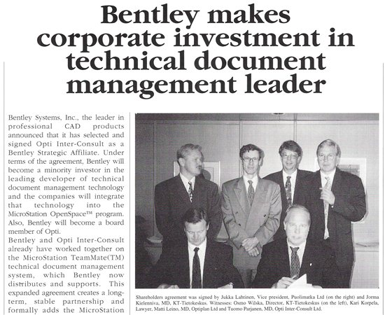 Bentley investment in Opti Consult - internal magazine