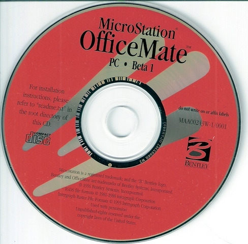 OfficeMate beta release CD