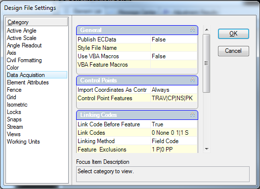 Data Acquisition Set : Right pane empty in data acquisition category design