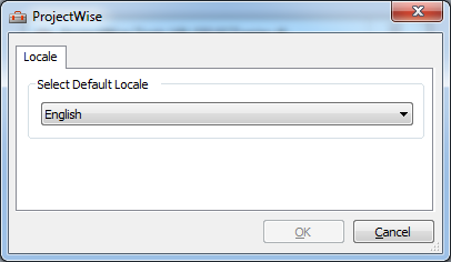 ProjectWise language does not change after installing localization