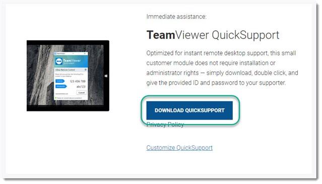 teamviewer 12 quicksupport