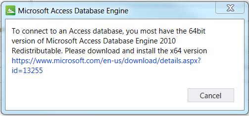 OpenRoads Designer Microsoft Access Database Engine Error
