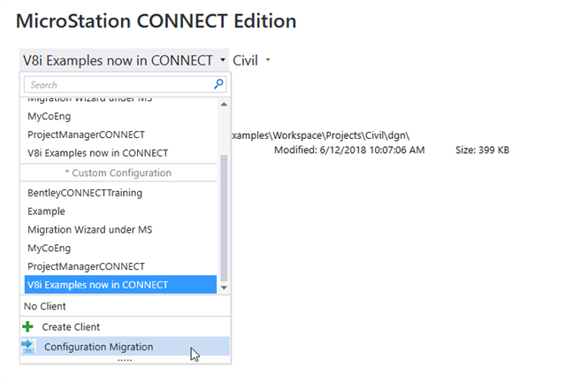 Migrating V8i Projects to MicroStation CONNECT WorkSets