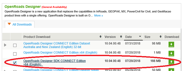 OpenRoads Designer SDK Download - OpenRoads | OpenSite Wiki