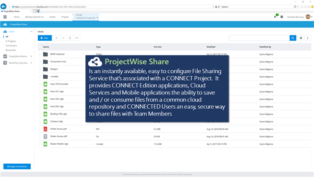 ProjectWise Share - Cloud and Web Services Wiki - Bentley Cloud and