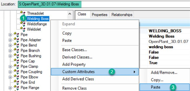 How to Create Welding Boss Component in OpenPlant Modeler
