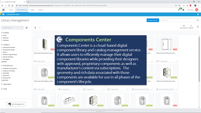 Components Center - Cloud and Web Services Wiki - Bentley Cloud and