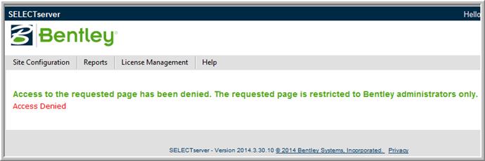 Selectserver.bentley.com site