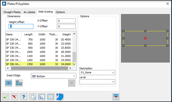 Link Web Grating database to plate tool and to add new data