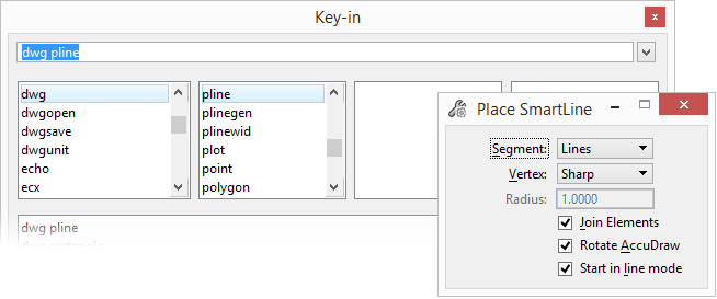 AutoCAD Key-ins in MicroStation - MicroStation Blog - MicroStation