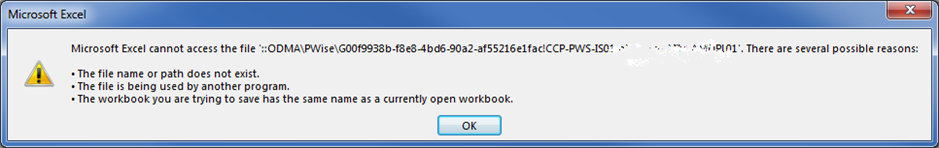 excel read only error message