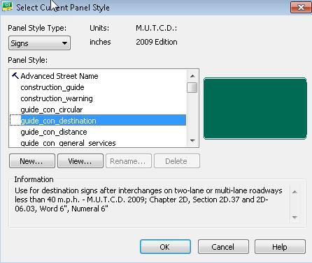 FDOT Panel Styles - FDOT AutoTURN \ GuidSIGN Forum - FDOT