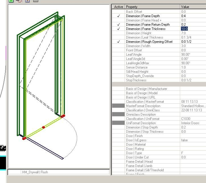 Popular BAD DOOR Basic HM Door in Stud Wall Ignores Frame Thickness Model - Fresh door with door frame Lovely