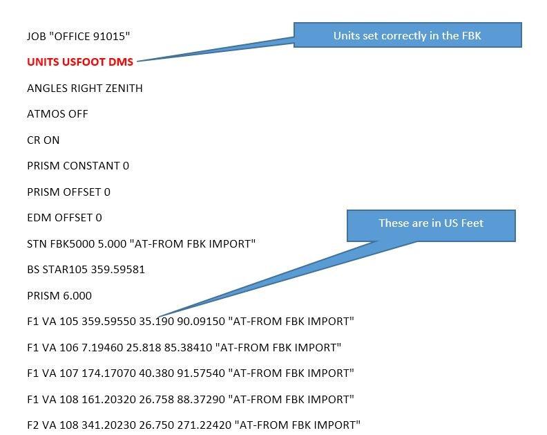 Fbk Import To Open Roads Survey Version Ss4 Geopak
