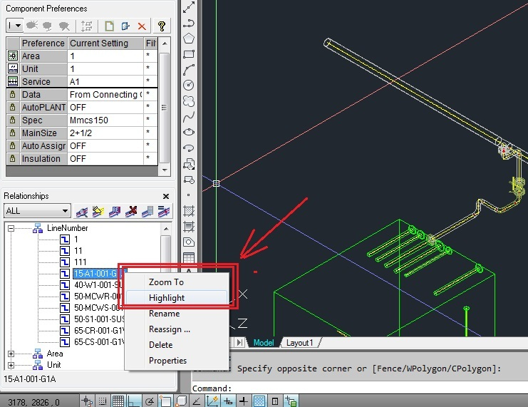 How To Isolate Piping 3D Model By Line Number? - Autoplant | Axsys