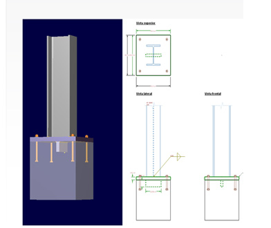 steel beam connection to concrete column - RAM | STAAD Forum - RAM