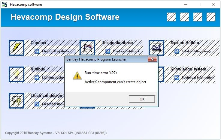 Run time Error 429: ActiveX component can\u0027t create object - Hevacomp