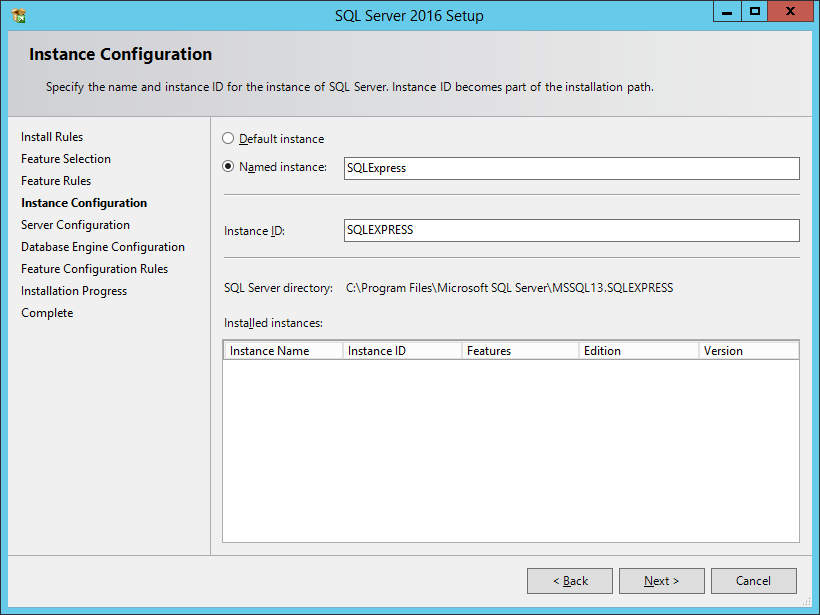 Installation of SQL Server 2016 Express - Licensing and