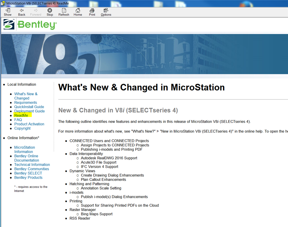MicroStation V8i SELECTseries 4 Resolved Issues and Bug