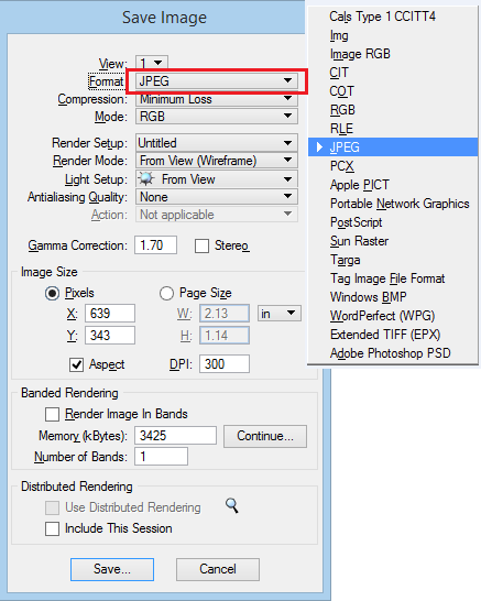 Is there any way to export a DGN to a common graphics format