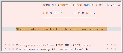 The Following Error Is Shown In Autopipe S Results Summary Of Stress Sub Report Ratio For This Section Are Zero Why