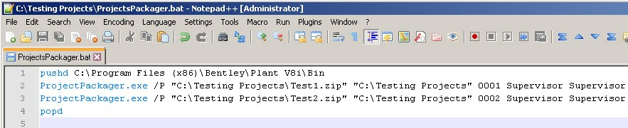 How to Package Several Projects Automatically Using CMD and Batch
