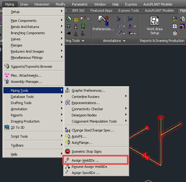 weld numbering system with prefixes such as x 001 can be achieved by assigning them directly in autoplant modeler - Autoplant 3d
