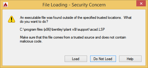 "Error: ""An executable file was found outside of the specified trusted locations"""