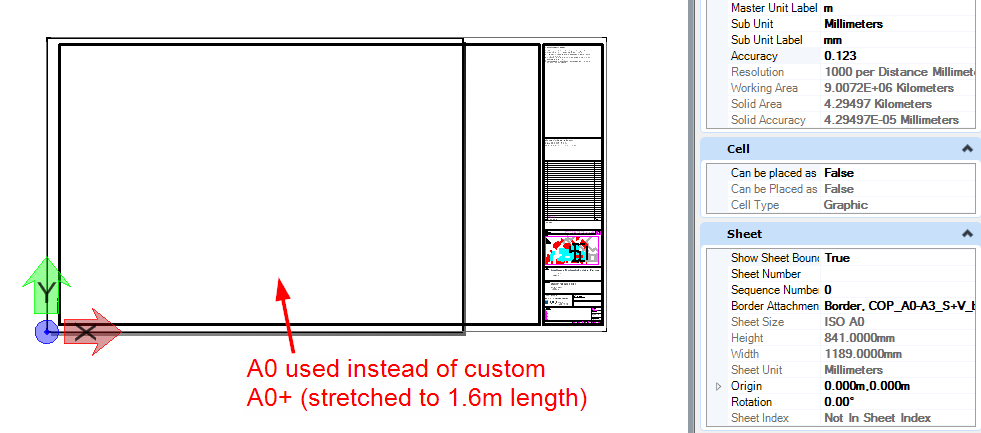 Border Attachment - Custom sheet sizes not recognized